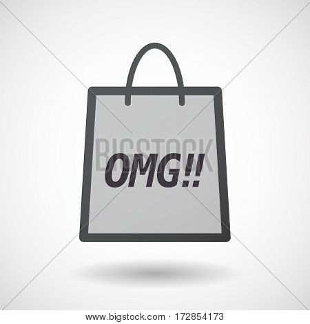 Isolated Shopping Bag With    The Text Omg!!