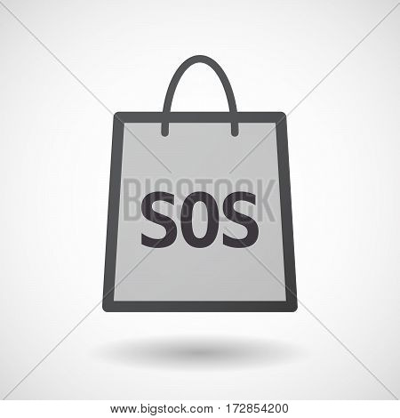 Isolated Shopping Bag With    The Text Sos
