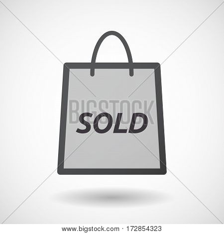 Isolated Shopping Bag With    The Text Sold
