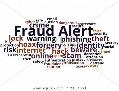Fraud Alert, Word Cloud Concept