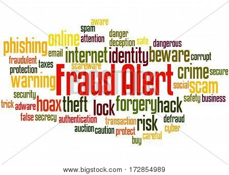 Fraud Alert, Word Cloud Concept 4