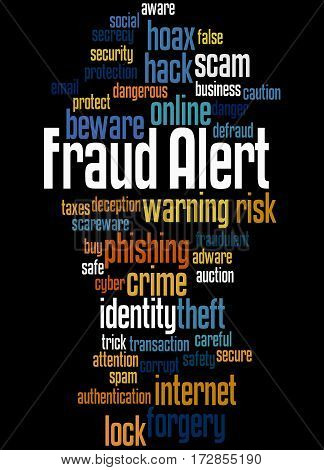 Fraud Alert, Word Cloud Concept 6