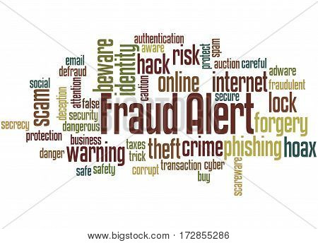 Fraud Alert, Word Cloud Concept 7
