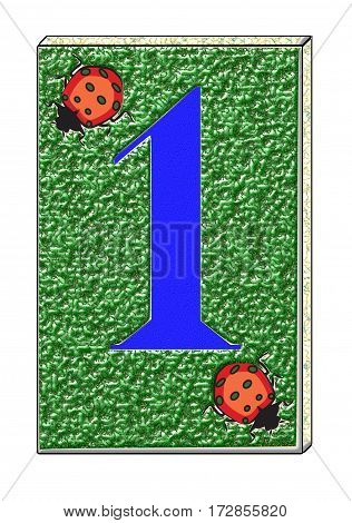a graphic reprsenting the number 1,street number