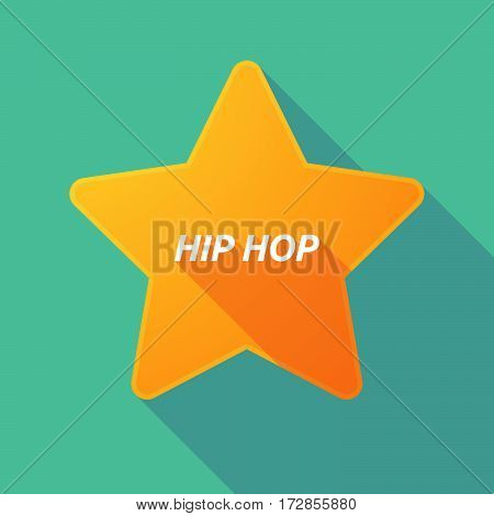Long Shadow Star With    The Text Hip Hop