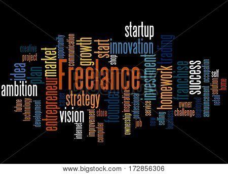 Freelance, Word Cloud Concept 6