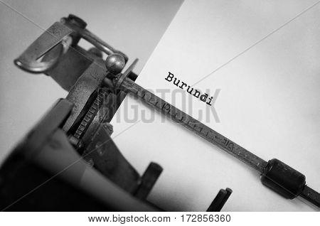 Old Typewriter - Burundi