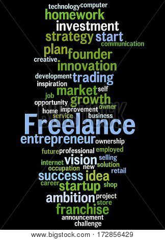 Freelance, Word Cloud Concept 7