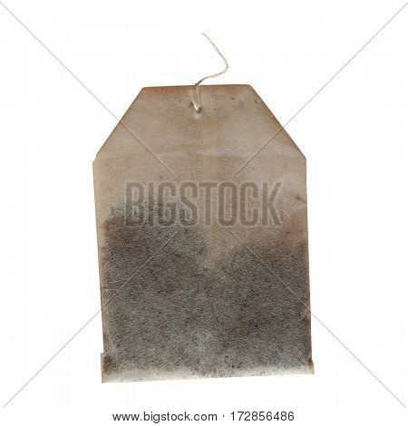 Tea bag for brewing tea isolated over white background