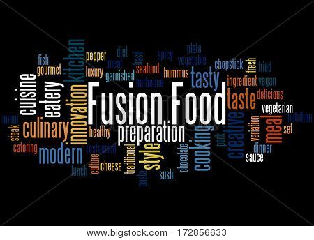 Fusion Food, Word Cloud Concept 2