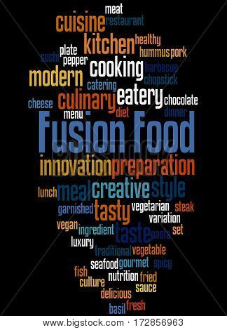 Fusion Food, Word Cloud Concept 6