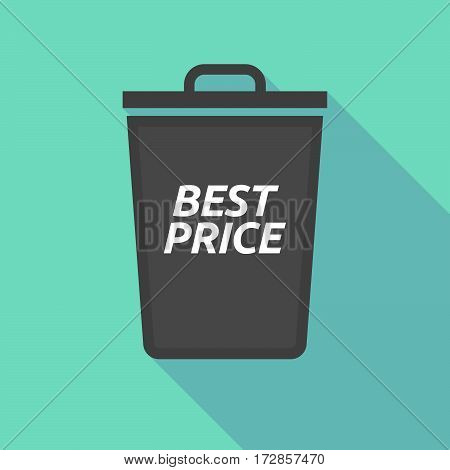 Long Shadow Trash Can With    The Text Best Price