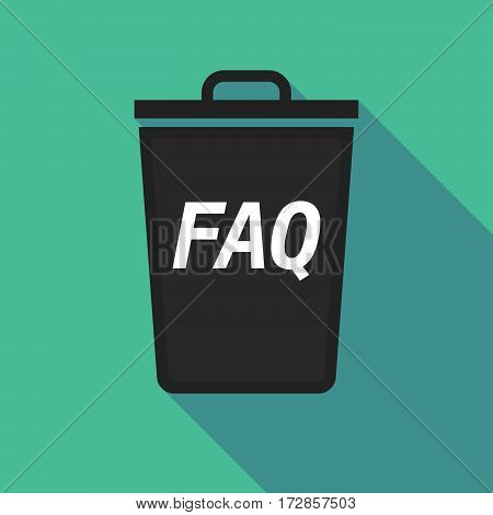 Long Shadow Trash Can With    The Text Faq