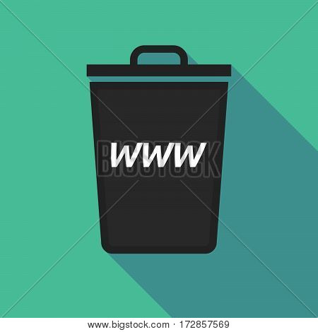 Long Shadow Trash Can With    The Text Www