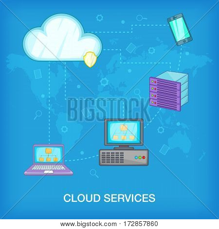 Data base concept. Cartoon illustration of data base vector concept for web