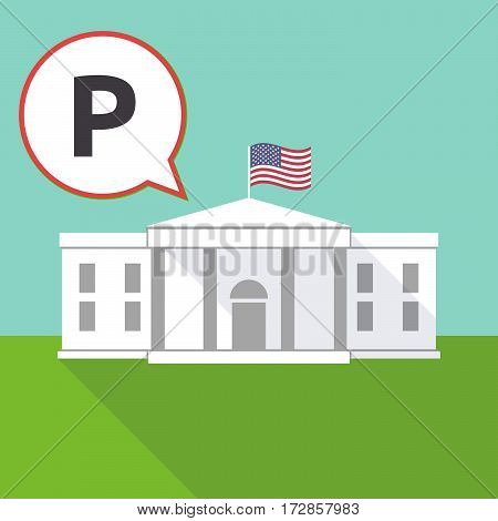 The White House With    The Letter P