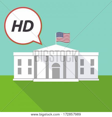 The White House With    The Text Hd