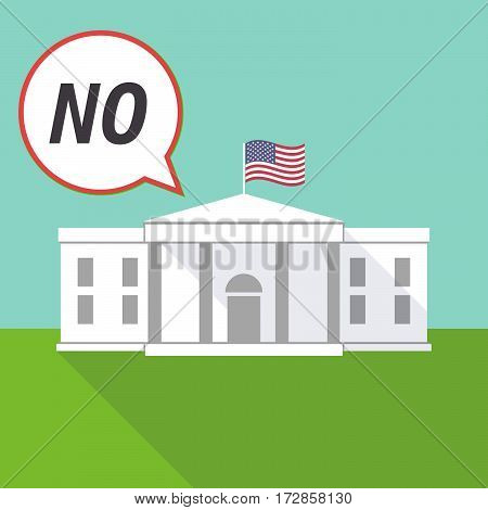 The White House With    The Text No