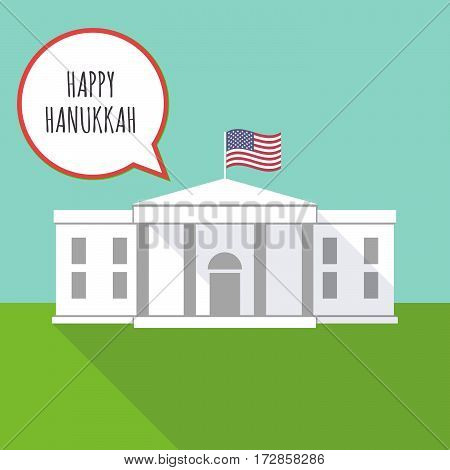 The White House With    The Text Happy Hanukkah