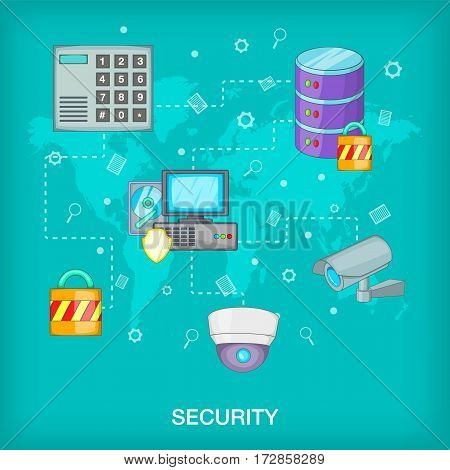 Data base concept structure. Cartoon illustration of data base vector concept for web