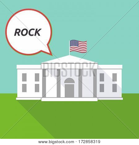 The White House With    The Text Rock