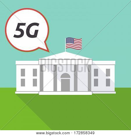 The White House With    The Text 5G