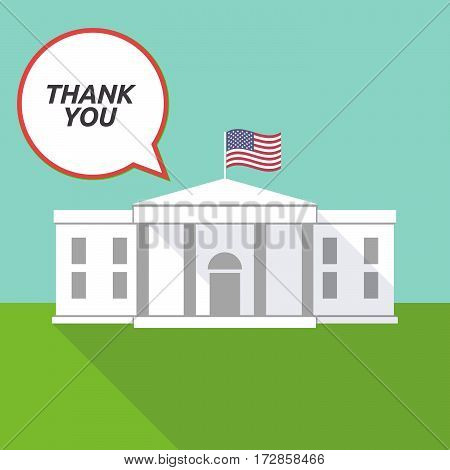 The White House With    The Text Thank You