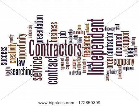 Independent Contractors, Word Cloud Concept 3