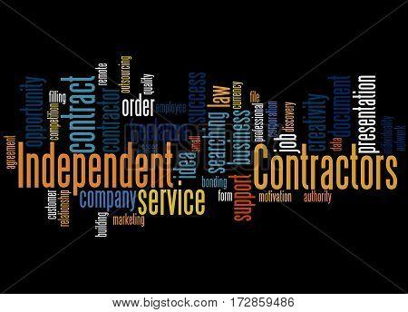 Independent Contractors, Word Cloud Concept 4