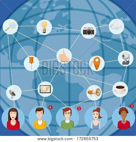 Marketing technology concept. Cartoon illustration of marketing technology vector concept for web