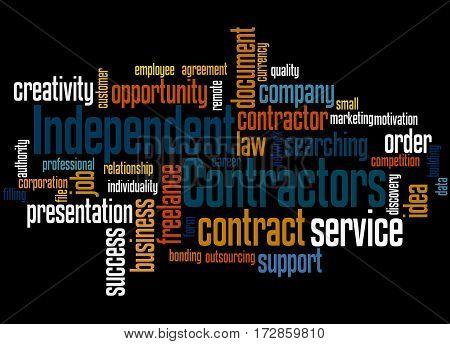 Independent Contractors, Word Cloud Concept 8