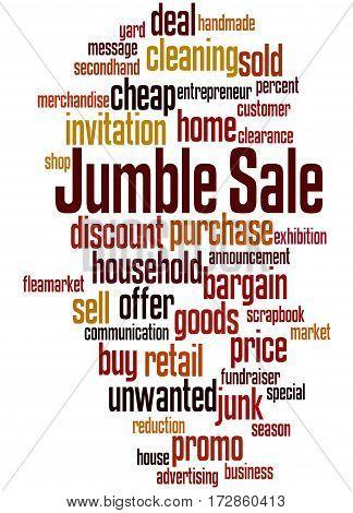 Jumble Sale, Word Cloud Concept 5