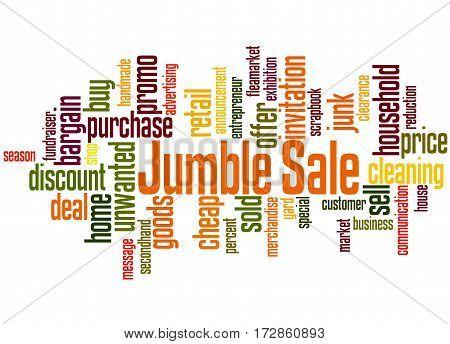Jumble Sale, Word Cloud Concept 8