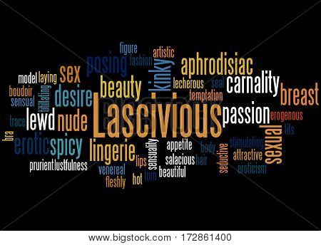 Lascivious, Word Cloud Concept 7