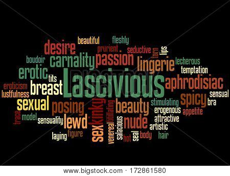 Lascivious, Word Cloud Concept 8