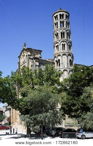 Uzes Cathedral (Cathedrale Saint-Theodorit d'Uzes) is a former Roman Catholic cathedral located in the city of Uzes a southern French city in the Languedoc-Roussillo region