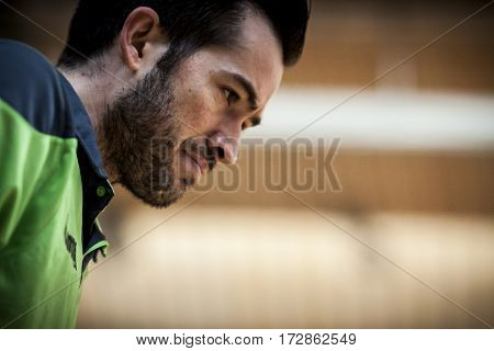 VALENCIA, SPAIN - FEBRUARY 19: Rafael during Spanish league match between Levante UD FS and Movistar Inter at Cabanyal Stadium on February 19, 2017 in Valencia, Spain