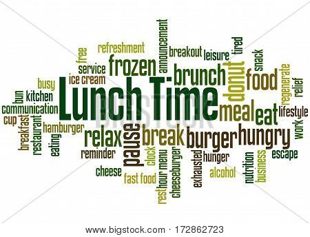 Lunch Time, Word Cloud Concept 5