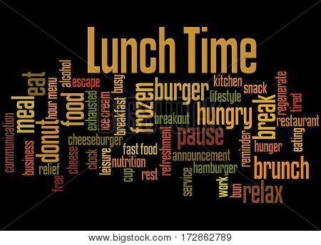 Lunch Time, Word Cloud Concept 6