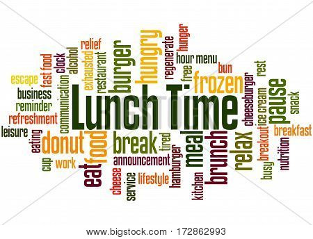 Lunch Time, Word Cloud Concept 8