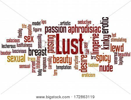 Lust, Word Cloud Concept
