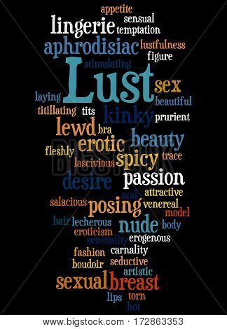 Lust, Word Cloud Concept 4