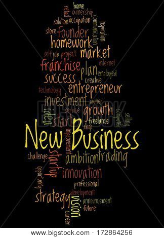 New Business, Word Cloud Concept
