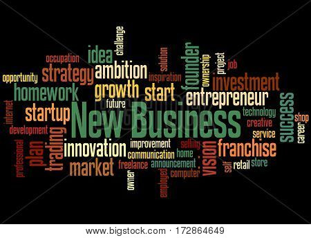 New Business, Word Cloud Concept 5