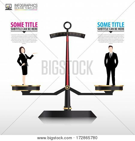 Business concept. Infographics design template. Vector illustration
