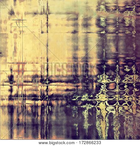 Vintage mottled frame, textured grunge background with different color patterns: yellow (beige); brown; gray; purple (violet); pink