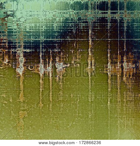Creative grunge background in vintage style. Faded shabby texture with different color patterns: yellow (beige); brown; gray; green; blue; cyan