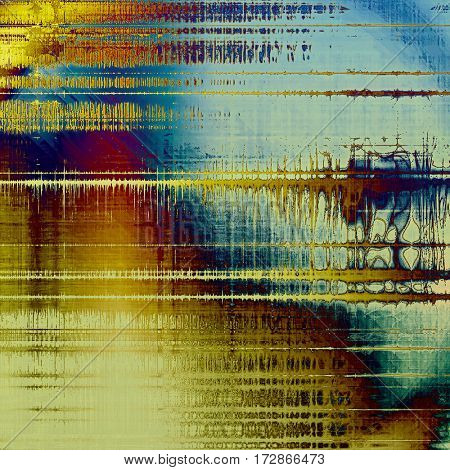Vintage decorative background, antique grunge texture with different color patterns: yellow (beige); brown; red (orange); purple (violet); blue; cyan