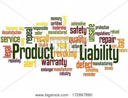 Product Liability, Word Cloud Concept