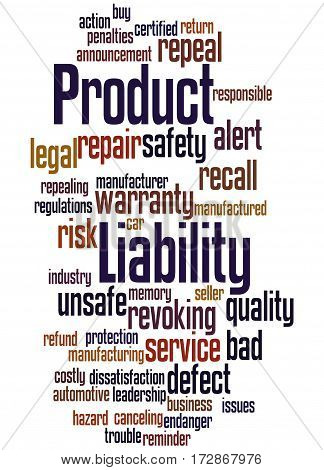 Product Liability, Word Cloud Concept 2